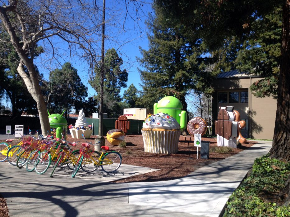 Google campus. It's a nice place... for suburbia.