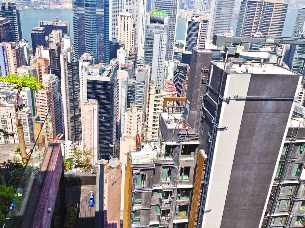 Dizzying heights of density in Hong Kong's prestigious mid-levels.