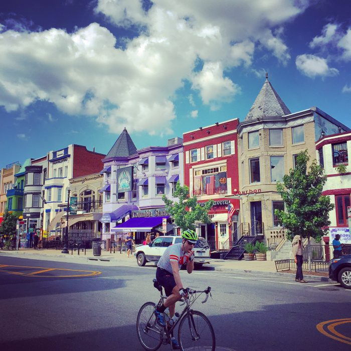 Adams Morgan. A Haight Ashbury with actually interesting businesses and unique food. Also the freshest empanadas I've ever had.