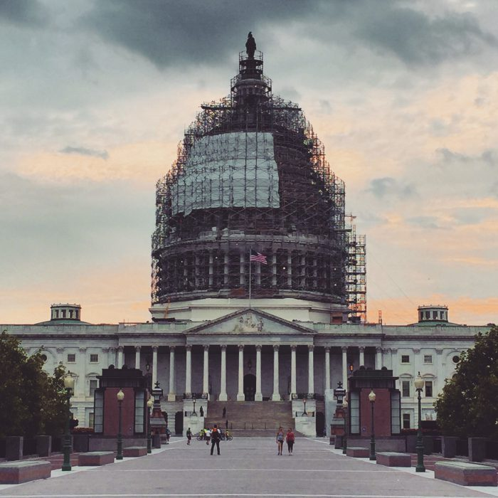 Shrink-wrapped Capitol