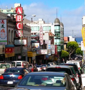 SF Chinatown, a place that really shouldn't have cars.