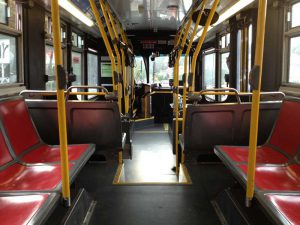 Interior of a Muni Orion VII, the workhorse for lower density routes. Not particularly powerful.