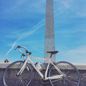 My Felt Fixie (set to Single Speed) in front of the Washington Monument
